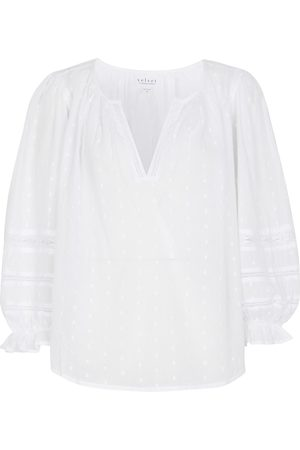 Velvet Dame Bluser - Imani cotton fil-coupe blouse