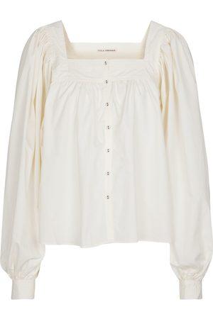 ULLA JOHNSON Amaris cotton poplin blouse