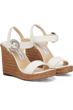 Jimmy Choo Mirabelle 110 leather wedge sandals