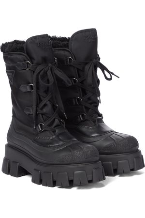 Prada Dame Skoletter - Monolith nylon ankle boots