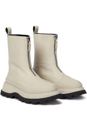 Jil Sander Dame Skoletter - Leather ankle boots