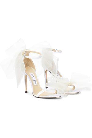Jimmy Choo Dame Høyhælte sandaler - Aveline 100 bow-trimmed sandals