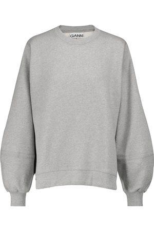 Ganni Dame Sweatshirts - Cotton-blend sweatshirt