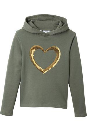 bonprix Sweatshirt med hette og paljetter