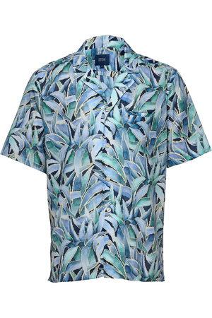 Eton Herre Kortermede - Slim Fit Casual Muslin Shirt Kortermet Skjorte Multi/mønstret