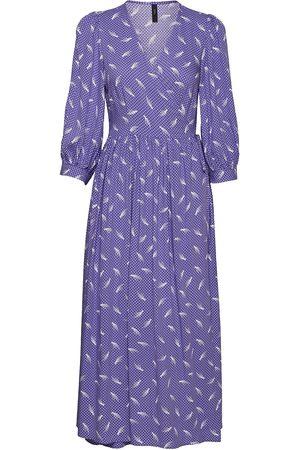 YAS Wendy 3/4 Wrap Dress - Ca Maxikjole Festkjole Lilla