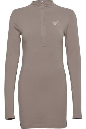 Reebok Cl Wde Slim Dress Dresses T-shirt Dresses Beige