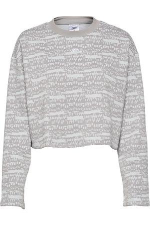 Reebok Myt Printed Coverup Sweat-shirt Genser Grå