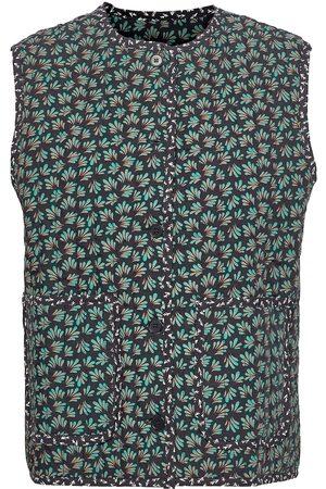 Wood Wood Molly Block Print Vest Vests Knitted Vests Blå