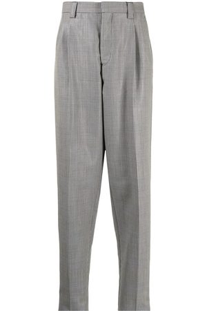 Emporio Armani Herre Chinos - Checked tapered trousers
