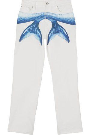 Burberry Herre Straight - Mermaid Tail printed jeans