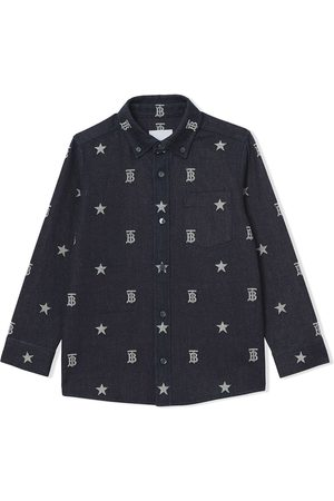 Burberry Kids Langermede - Monogram-print long-sleeve shirt