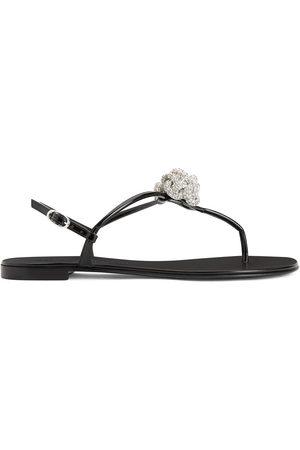 Giuseppe Zanotti Dame Flip flops - Crystal-embellished sandals