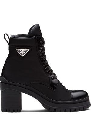 Prada Dame Skoletter - Logo plaque ankle boots