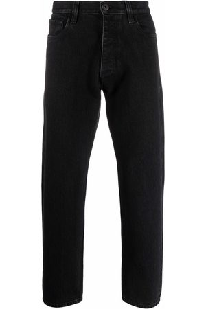 Prada Herre Tapered - Triangle patch mid-rise jeans