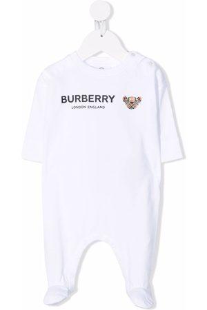 Burberry Kids Pyjamaser - Thomas Bear-print sleepsuit