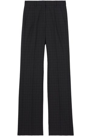 Burberry Dame Chinos - Check wool tailored trousers