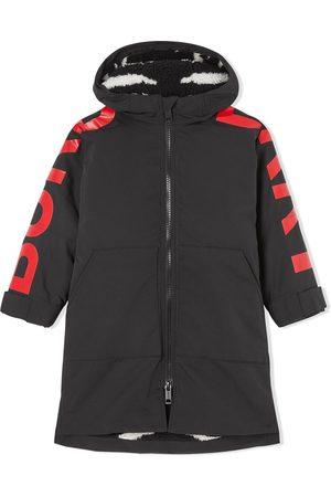Burberry Logo-print hooded coat
