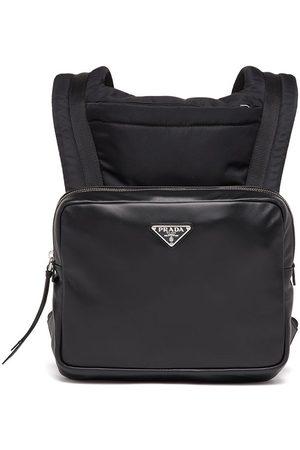 Prada Logo-plaque leather backpack