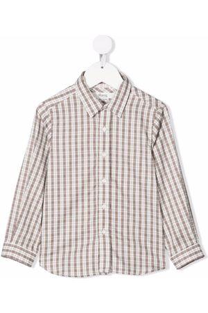BONPOINT Checked long-sleeve shirt