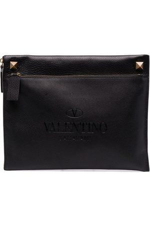 VALENTINO GARAVANI Rockstud-embellished clutch bag
