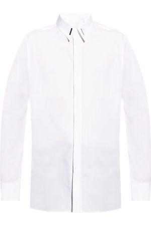 Givenchy Herre Langermede - Logo-appliquéd shirt