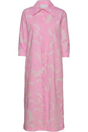 REMAIN Birger Christensen Silja Dress Knelang Kjole Rosa