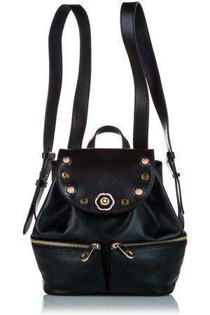 Salvatore Ferragamo Studded Leather Drawstring Backpack