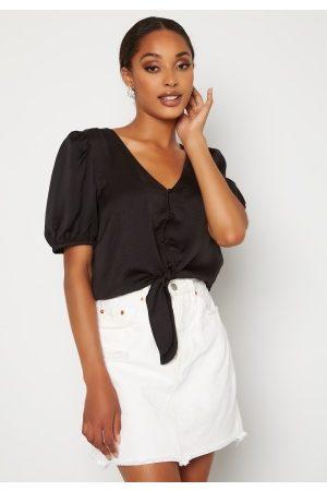 VERO MODA Sally SS Tie Shirt Black XS
