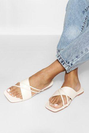 Boohoo Dame Flip flops - Multi Strap Crossover Mule