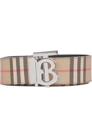 Burberry Herre Belter - Reversible monogram-plaque checked belt