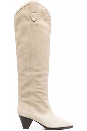 Isabel Marant Dame Høye støvletter - Lihana suede knee-high boots