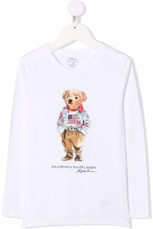Ralph Lauren Jente Kortermede - Polo Bear-motif cotton T-Shirt