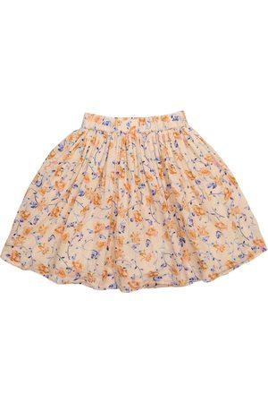 BONPOINT Suzon floral cotton twill skirt