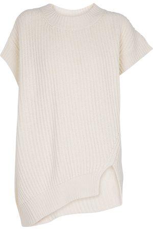 Stella McCartney Dame Strikkegensere - Cashmere-blend ribbed-knit top