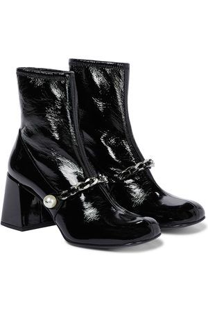 Miu Miu Embellished naplak leather ankle boots