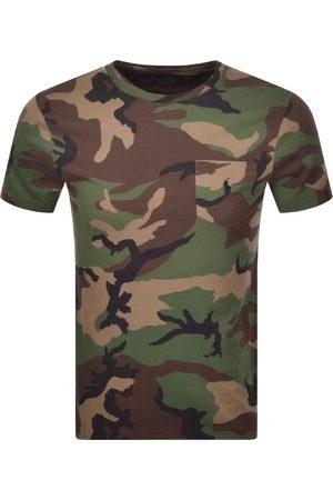 Ralph Lauren Camouflage Print T Shirt