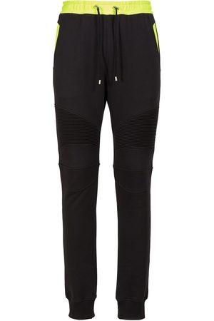 Balmain Logo Print Cotton Jersey Sweatpants