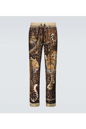 Dolce & Gabbana Leopard printed pajama pants
