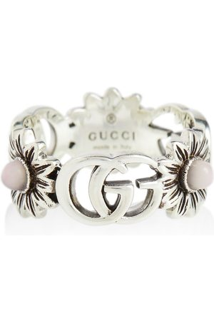 Gucci Dame Ringer - GG Marmont sterling silver ring with pearls