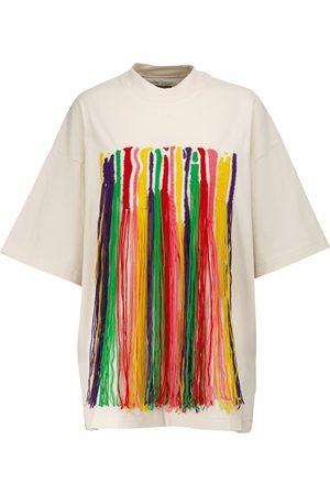 Palm Angels X Missoni fringe-trimmed cotton T-shirt