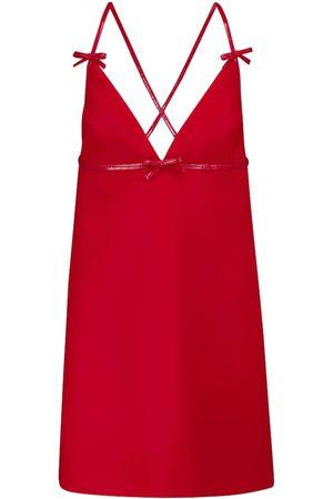 Miu Miu Sleeveless cady mini dress