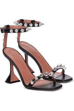 Amina Muaddi Julia embellished leather sandals
