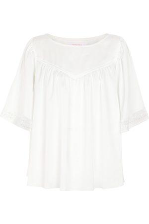 Chloé Lace-trimmed blouse
