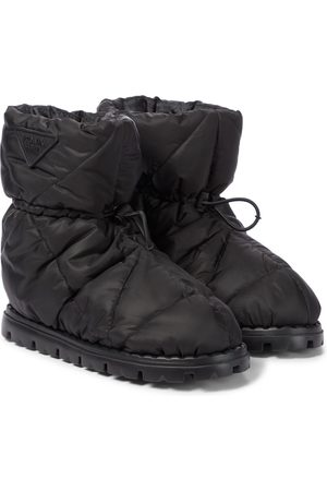 Prada Blow quilted nylon snow boots