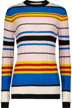 Marni Striped ribbed-knit wool sweater