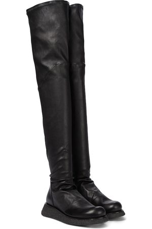 Rick Owens Creeper Stocking leather over-the-knee boots