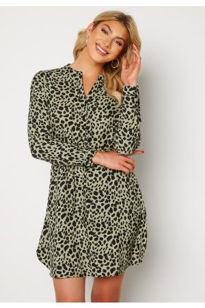 ONLY Cory L/S V-Neck Tunic WVN Seagrass/Animal M