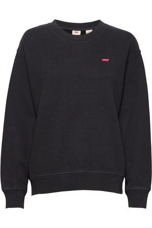 Levi's Dame Sweatshirts - Standard Crew Caviar Sweat-shirt Genser Svart