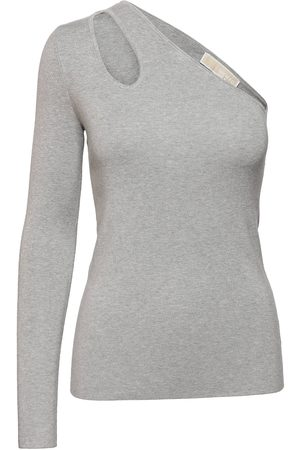 Michael Kors Shldr Cutout Swtr T-shirts & Tops Sleeveless Grå